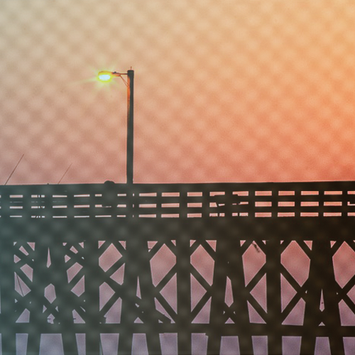 Photo of pier at sunset
