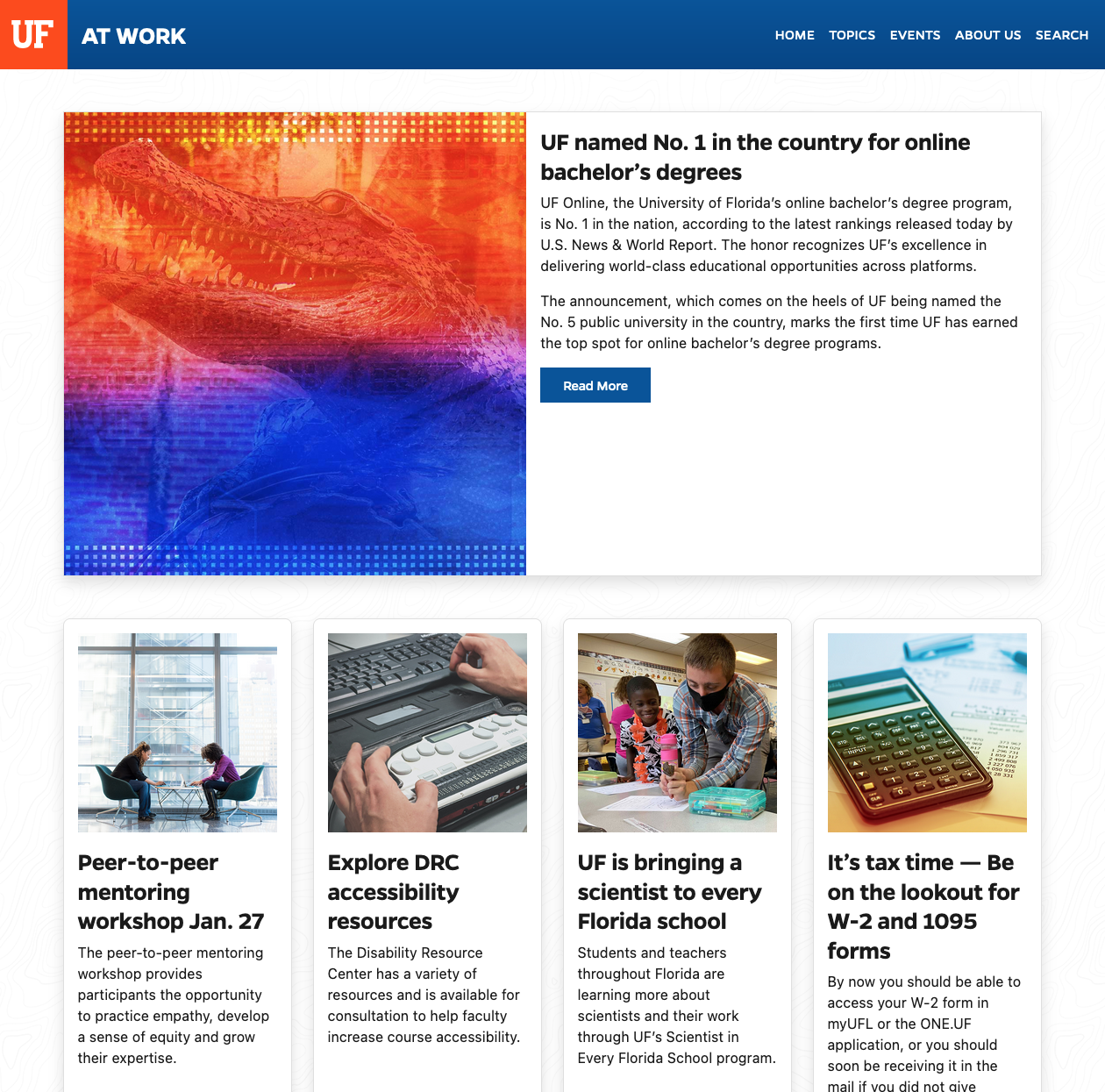 uf at work email with us news and world report ranking
