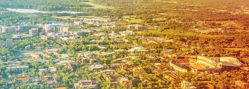 Aerial view of UF Campus